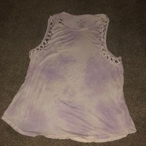 American Eagle soft and sexy tie die tank